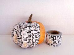 fake-pumpkins-using-washi-tape-white-washi-tape