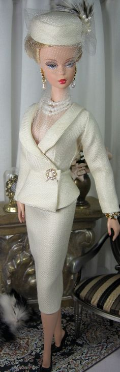 Cream Classic for Silkstone Barbie and similar size dolls on Etsy now