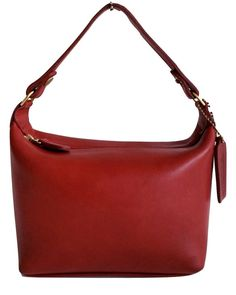 COACH MINI DUFFEL Top Handle Bag Vintage Purse Pouch Red Leather 05508fa6212c7