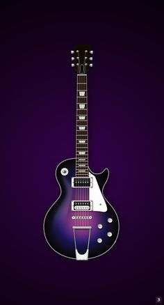 Deep purple Gibson Les Paul   by Ike Ku