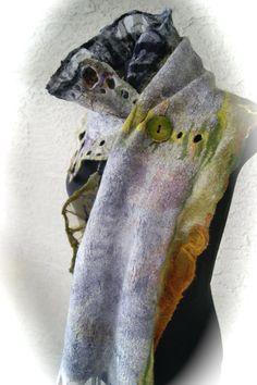 Nuno Felted scarflette a SugarPlum Original by sugarplumoriginals
