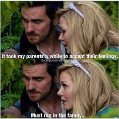 "Emma: ""It took my parents a while to accept their feelings."" Hook: ""Must run in the family."""