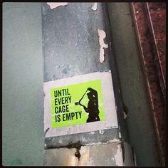 Until every #cage... #katutaidetta #tarra #streetart #sticker #Tallinn