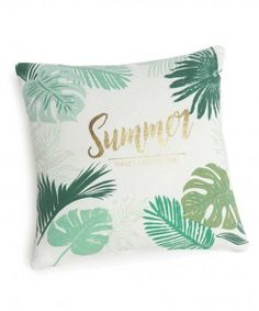 Textile on Maisons du Monde. Take a look at all the furniture and decorative objects on Maisons du Monde. Gold Decorative Pillows, Jungle Bedroom, Birthday Ideas For Her, Cushion Cover Designs, Style Deco, Summer Prints, Seasonal Decor, Decoration, Printed Cotton