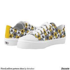 Floral yellow pattern shoe zapatillas