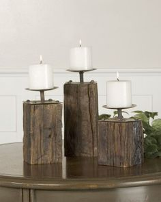 Billy Moon designed Rustic Candle Holders