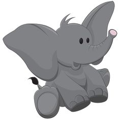 Brown Baby Elephant Clip Art Images. All Images Are On A Transparent Background