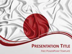 Japan Flag Powerpoint Template Presentationgo Com Powerpoint Template Free Powerpoint Templates Japan Flag