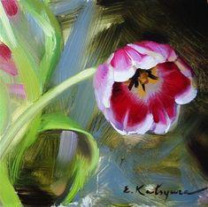 "Daily Paintworks - ""Tulip Sketch"" by Elena Katsyura"