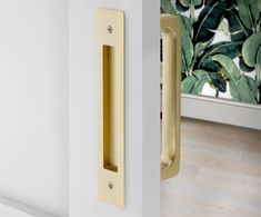 "Modern Rectangular Flush Pull for 8"" C-to-C Door Pull | Emtek Products, Inc."