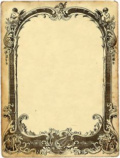 Angel, ornate frame  ...Could be printed off and used for a Valentine with a photo in it! :)