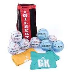 GILBERT NETBALL COACHING KIT - available in junior and secondary school sizes.