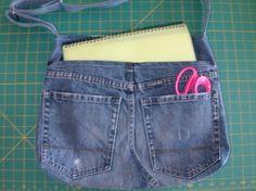 Upcycled Denim Book Bag/Tote