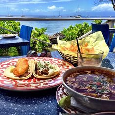 Three words: Mexican Beach House. Reviewers have voted Frida's as the perfect spot for grabbing lunch with a killer view. If you need more convincing, the collection of 40 different tequilas might do the trick.  Menu Highlights:  Chicken Tinga Flautas, Shrimp Mojo de Ajo, and Chipotle Lamb Shoulder Tacos.