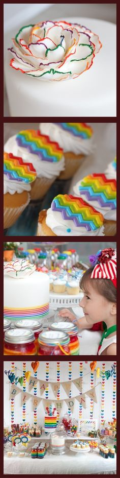 Rainbow Vintage Birthday Party ~ ideas and inspiration. http://projectnursery.com/projects/vintage-rainbow-party/