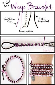 DIY wrap bracelet #diy #bracelet #bracelets #armband #wrapbracelet #wrap #wraparmband