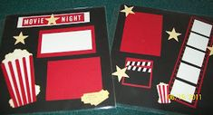 Hi all - this week I held my first Scrapbook Stamp Camp  - and I think it went well. We did a 2 page layout based on a movie night theme. If...