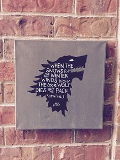 Game of Thrones 12x12 Hand-Painted Art Canvas  by TheDailyCanvas