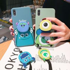 Cartoon Phone Case for iphone Max ●Material: silicone. ●Note:including one case and one airbag bracket and rope ●About Shipping: We attach great importance to the orders of each customer and parcel delivery. Iphone 6, Iphone Phone Cases, Lg Phone, Kawaii Phone Case, Iphone Cases Disney, Cute Cases, Cute Phone Cases, Cute Popsockets, Popsockets Phones