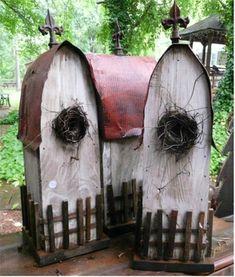 prim birdhouses