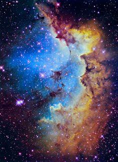 The Wizard's Nebula, 7000 light years away in our own Milky Way #nebula #wizard