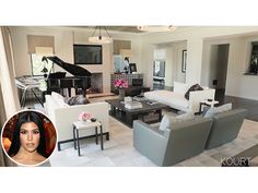 Kourtney Kardashian worked with interior designer Martyn Lawrence Bullard to create chic yet inviting spaces for her living room and dining room.