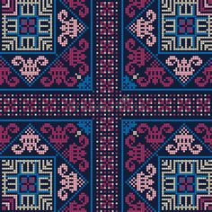 Illustration about Seamless pattern design with traditional Palestinian embroidery motif. Illustration of arabian, abstract, illustration - 168299605 Cross Stitch Borders, Cross Stitch Designs, Cross Stitch Patterns, Embroidery Motifs, Cross Stitch Embroidery, Embroidery Designs, Persian Pattern, Palestinian Embroidery, Colorful Wallpaper