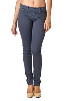 Angry Rabbit Women's Colored 3D Skinny Premium Denim Jeans