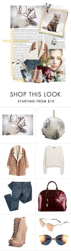 """""""Winter Blizzard"""" by innety ❤ liked on Polyvore featuring Elle, Allstate Floral, MANGO, Pendleton, Louis Vuitton, Steve Madden and Fendi"""