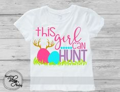 Funny Easter Hunting Shirts for girls Baby girl Toddler Easter tshirt for kids Easter hunt shirt for girls basket stuffers - Holiday Shirts - Ideas of Holiday Shirts - Easter Crafts For Kids, Crafts To Do, Easter Ideas, Shirts For Girls, Kids Shirts, Baby Shirts, Tee Shirts, Baby Easter Outfit, Easter Baby