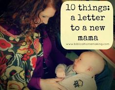 Letter to a new mama