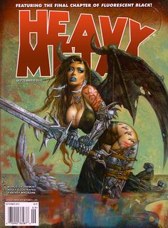 Heavy Metal - Vol. 34 No. 6 September 2010 (magazine lists it as Vol. 24 No. 6) - Simon Bisley