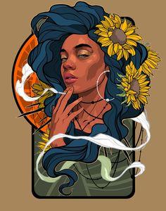 Vector Portrait, Mural Art, Murals, Grafik Design, Street Artists, Art Forms, Digital Illustration, Art Inspo, Art Museum