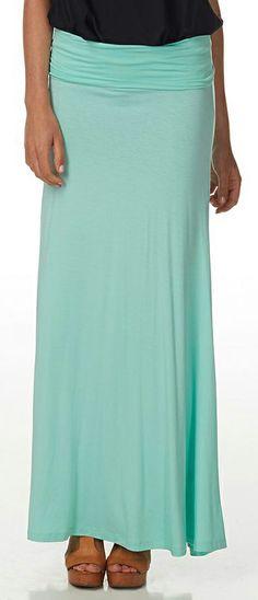 #Mint #Maxi Skirt