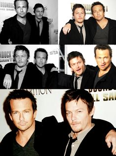 Sean Patrick Flanery & Norman Reedus, The Boondocks Saints. Norman was boss LONG before The Walking Dead The Boondock Saints 2, Movie Stars, Movie Tv, Sean Patrick Flanery, Daryl Dixon, Celebs, Celebrities, Norman Reedus, Great Movies