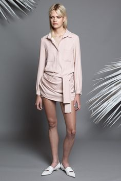 subtle pink look: Jay Ahr Resort 2015 Collection #style #fashion