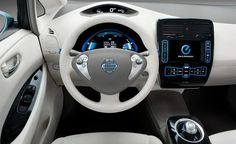 2011 Nissan Leaf infotainment system photo, Futuristic car interior, futuristic dashboard
