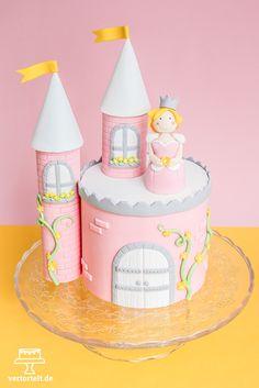 Ein Schloss für kleine Prinzessinen - a princess castle cake