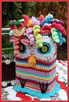 #crochet#yarn#rainbow#owl@Kate Stubenvoll