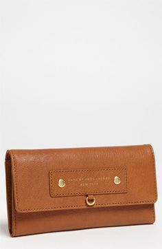MARC BY MARC JACOBS 'Preppy - Long' Trifold Leather Wallet