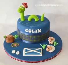 "Loch Ness ""McEwan"" Scottish themed cake"