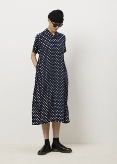 Comme des Garcons COMME Printed Dot Pattern Dress (Navy)