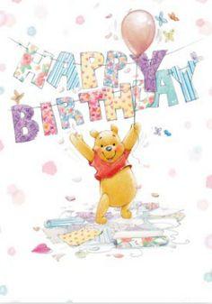 Disney Winnie The Pooh Hip Hip Hooray Personalised Happy Birthday Card