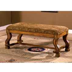 The bench that provides high quality comfort with curvy bold legs, and paisley fabric that makes this bench stand out in any room.