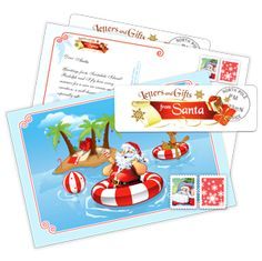 Summer Card from Santa - Send a postcard in July from Santa to your children this summer by Letters and Gifts from Santa. Santa's Nice List, Santa Letter, Santa Gifts, Your Child, Christmas Holidays, How To Memorize Things, Letters, Children, Summer