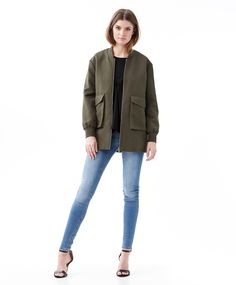 Dress up in a army green bomber jacket | Gina Tricot New Arrivals | www.ginatricot.com | #ginatricot