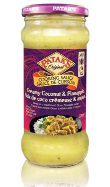 Creamy Coconut & Pineapple Sauce #Recipe #India #IndianFood #FoodPorn #Pataks #PataksCanada #MixinaLittleIndia #Indian #TonightsDinner #Food #Curry