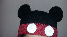 Gorros de Mickey y Minnie Mouse en crochet   Manualidades