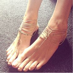 Fab Gold Anchor Anklet Ankle Bracelet Foot Barefoot Toe Ring Chain Sandal Beach