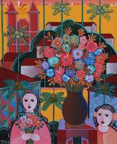 Adelson do Prado. Cidade Alegre (1999). Acrílica Sobre Tela, 61x50 cm.